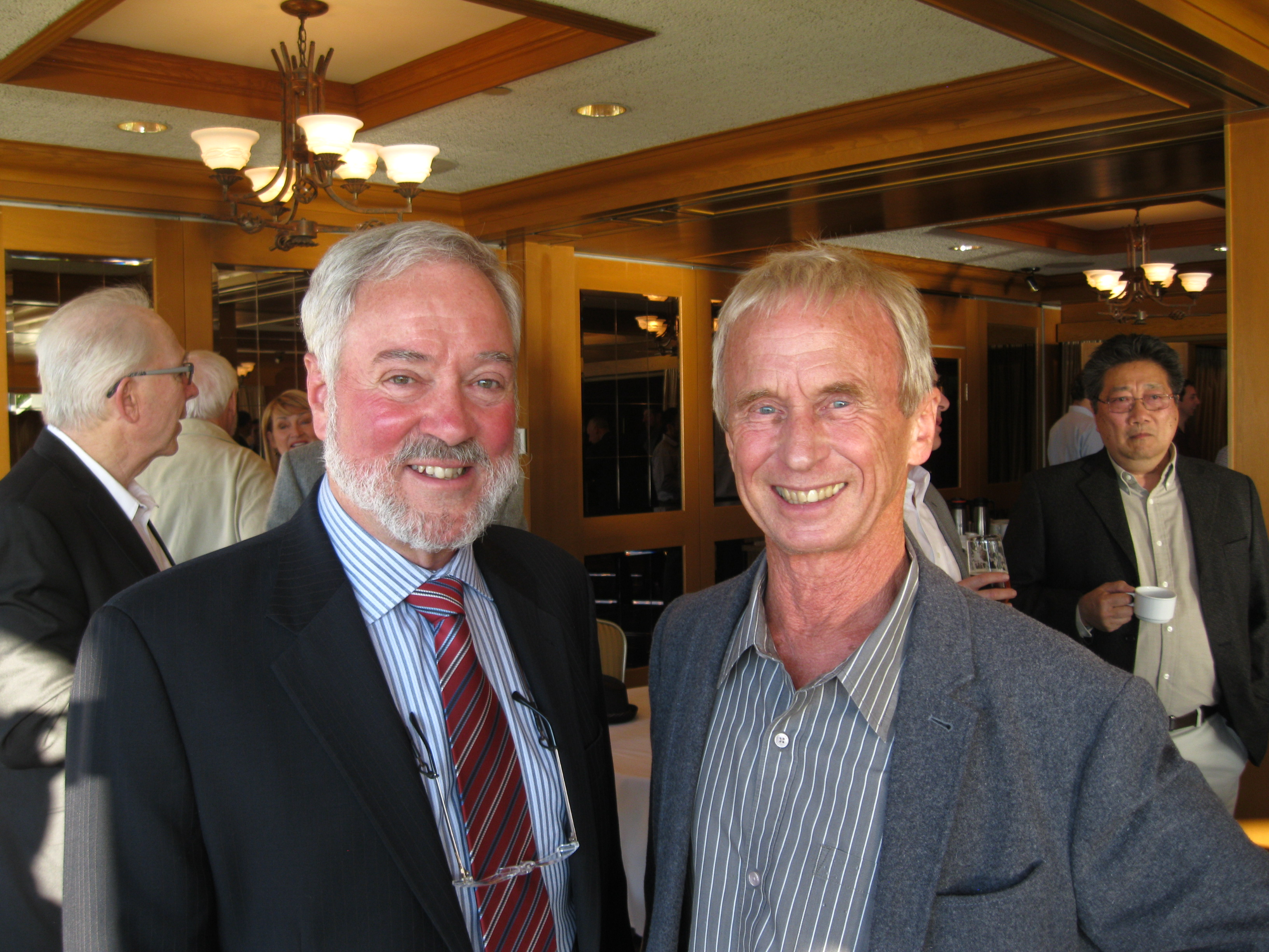 Ken Harford and Doug Kennedy at Harford's retirement party, April 29, 2016.
