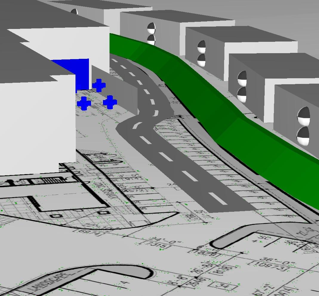 Cadna/A Loading Bay Noise Modelling