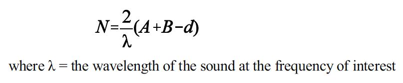 Noise barrier formula